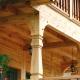 Steg-för-steg instruktioner för att göra en veranda av trä med egna händer