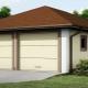 Projet de garage pour 2 voitures: caractéristiques d'aménagement