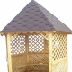 Hexagonal gazebo do it yourself: drawings, dimensions and manufacturing