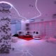 Glowing suspended ceilings: design and design ideas