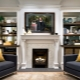 TV over the fireplace in the interior design