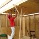 Subtiliteter av arkivering tak på träbjälkar
