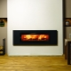 Built-in electric fireplace: a combination of classic and modern