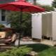 Duschkabiner för trädgårdsarbete: typer och platsalternativ