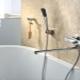 Hur man väljer en kran med lång pip och dusch för ett bad