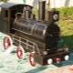 Brazier i form av ett lokomotiv: Den ursprungliga designen på din webbplats