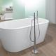 Golvmonterade badblandare: typer och egenskaper vid installationen