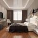 बेडरूम इंटीरियर डिजाइन में खिंचाव छत