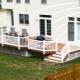 Clôtures de terrasse: types de matériaux et exemples de conception