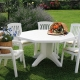Plastic furniture for the garden: the nuances of choice and placement