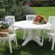 बगीचे के लिए प्लास्टिक के फर्नीचर: पसंद और नियुक्ति की बारीकियों