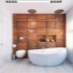 Wood imitation tiles in the bathroom: finishing options and features of choice