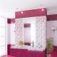 Pink ceramic tiles: beautiful ideas in the interior
