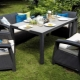 Garden furniture made of artificial rattan: the pros and cons
