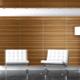 Veneered MDF panels for walls in interior design