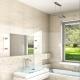 Carrelage beige pour la salle de bain: des classiques sans âge en design d'intérieur