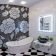 Black and white bathroom: original interior design ideas