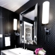 Black bathroom interior: advantages and design options