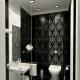How to arrange a black and white bathroom?
