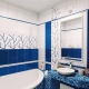 How to choose a bathroom tile in blue?
