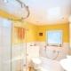 बाथरूम में खिंचाव छत: पेशेवरों और विपक्ष