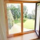 Características de janelas de madeira-alumínio