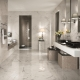 Bathroom marble tiles: design features and selection criteria