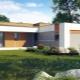 Projekt av moderna hus med ett platt tak: funktioner av takets val och arrangemang