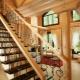 De keuze van de afwerkingen voor de trap in een landhuis