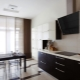 Black hood in kitchen interior design