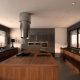 Round hood in kitchen design