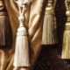 Dekorativa borstar för gardiner