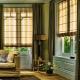 Grekiska gardiner: stilfunktioner och tips för att välja