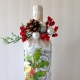 How to make Christmas decorations on the bottle with your own hands?