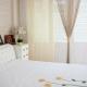 Bomullsgardiner: typer, valmöjligheter, dekoration i rummet