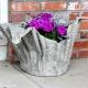 Comment faire un vase de jardin en ciment et en tissu avec vos propres mains?