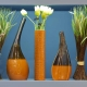 Vases: a variety of materials and forms in the interior