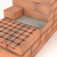 Reinforcement of brickwork: technology and details of the process