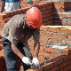 Masonry walls in one brick