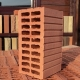 Slit brick: types and technical characteristics