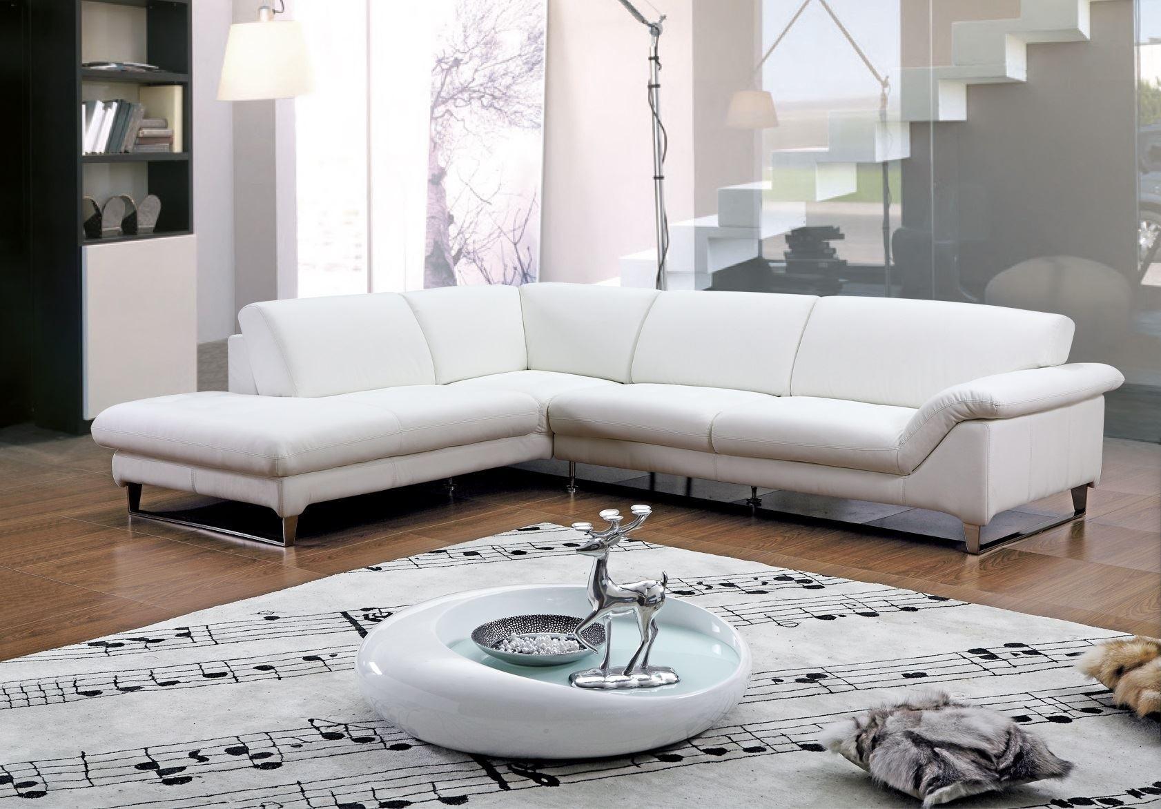 Leren Bank Wit.Witte Lederen Sofa 59 Foto S Hoekbank Met Poten Van Eco Leer Of