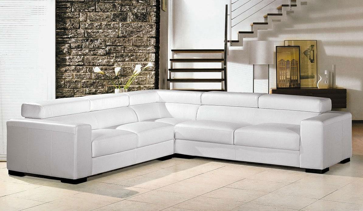 Leren Bank Modern Wit.Witte Lederen Sofa 59 Foto S Hoekbank Met Poten Van Eco Leer Of