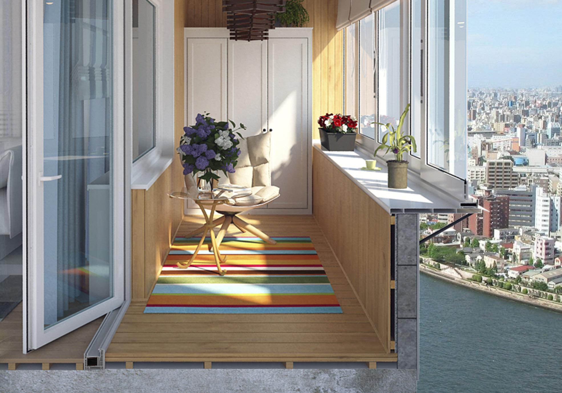 Современный ремонт и остекление балконов