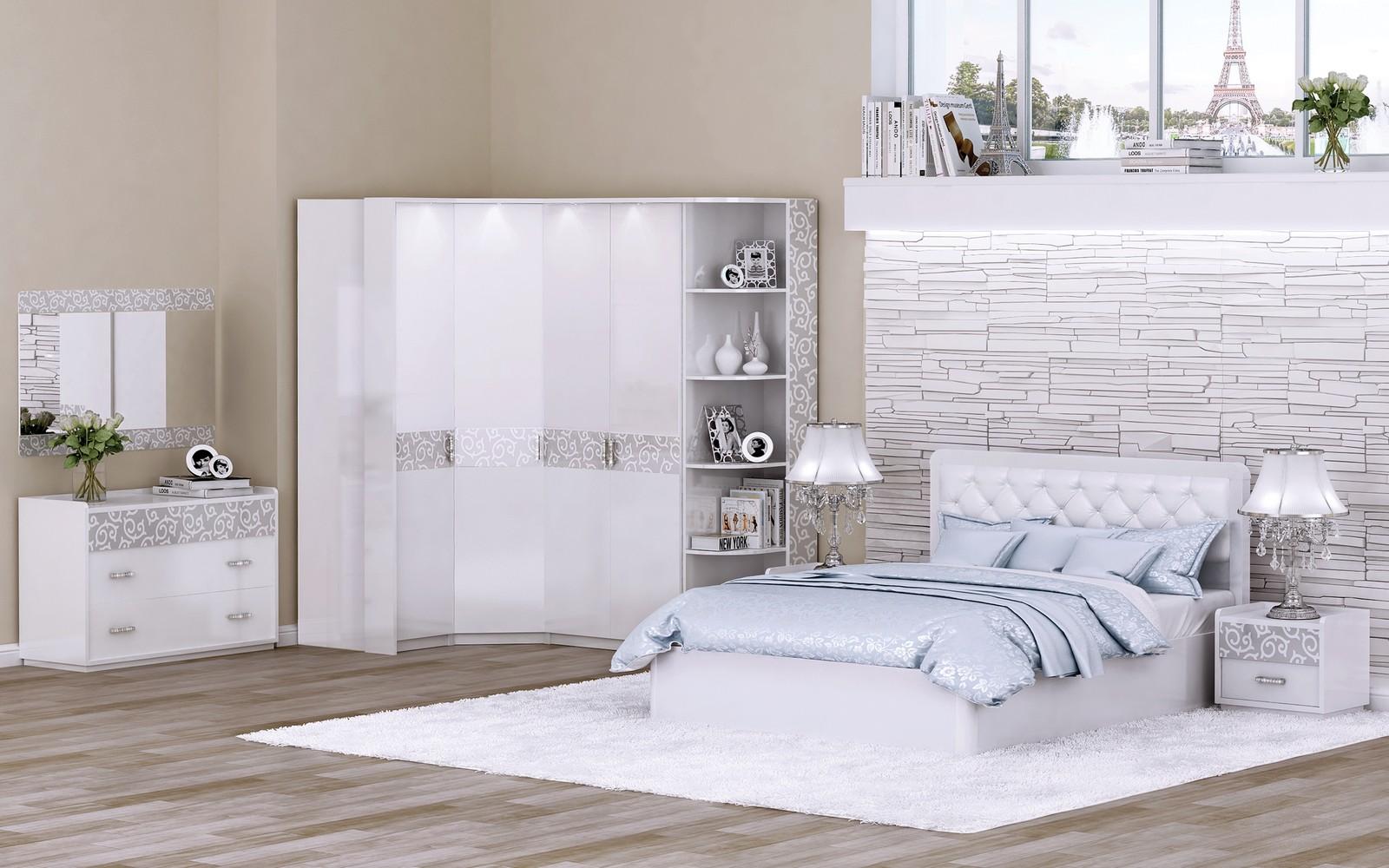 Mobili camera da letto bianca (51 foto): design moderno ...
