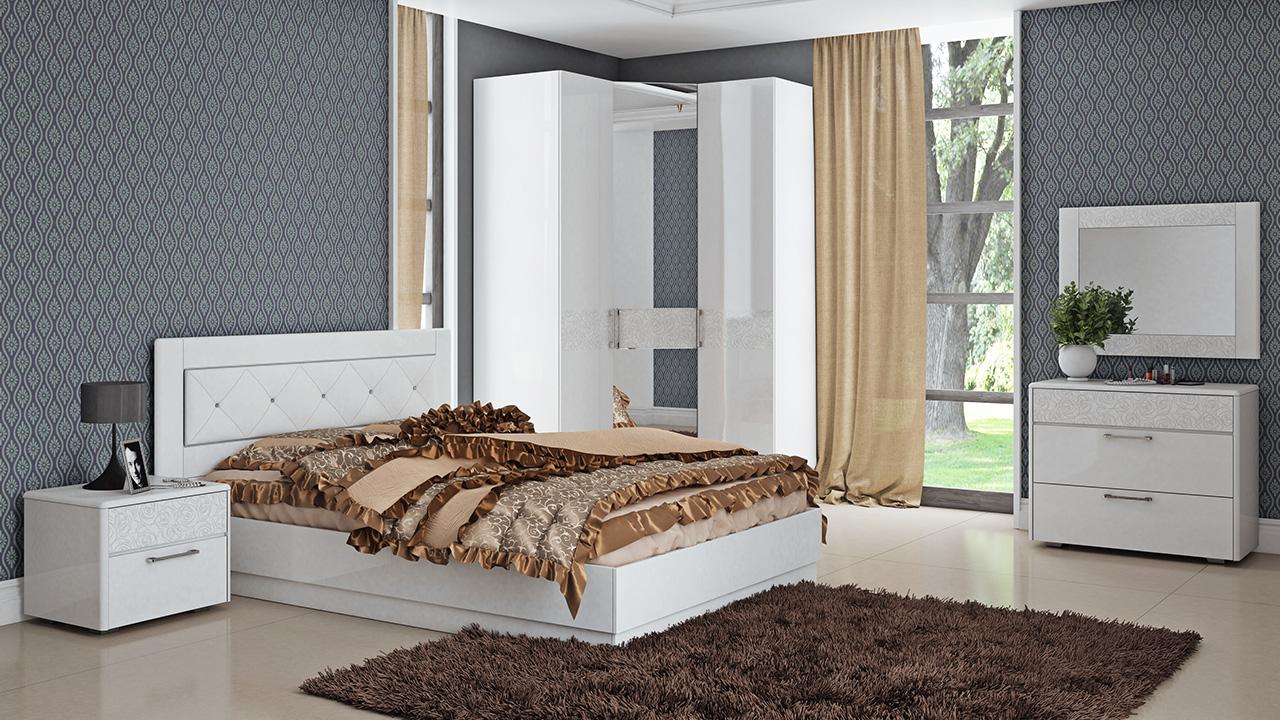 Set da letto bianco (39 foto): colori negli interni, modelli ...