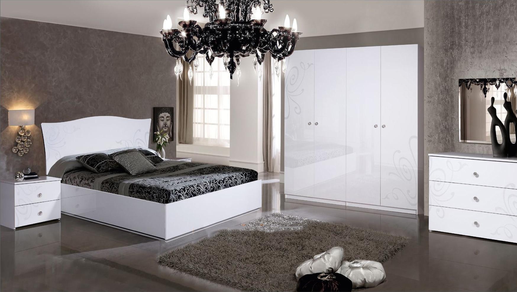 Camera Da Letto Bianca E Nera set da letto bianco (39 foto): colori negli interni, modelli