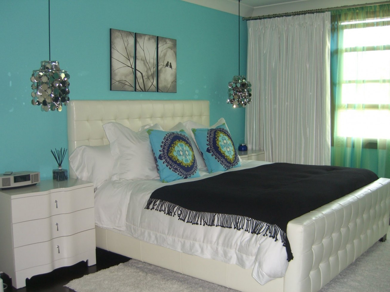 Turquoise Bedroom 68 Photos Interior Design In Chocolate Tones And Turquoise Brown