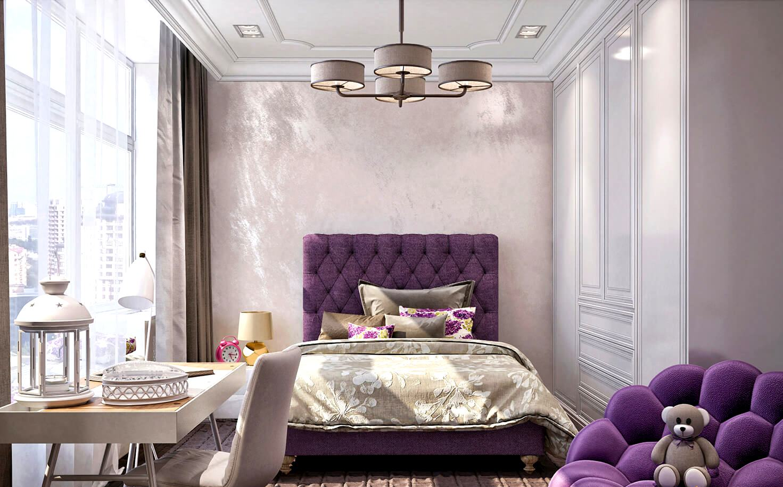 Bilik Tidur Violet 68 Gambar Reka Bentuk Dalam Warna Putih Ungu Dan Kuning Ungu Idea Idea Dalaman Dengan Aksen Hitam Makna Warna