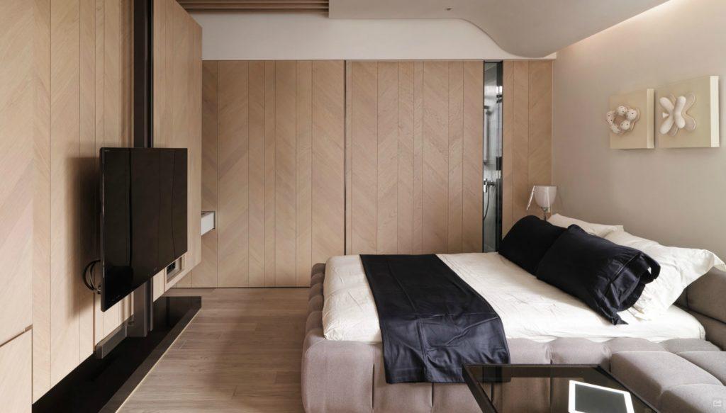 TV im Schlafzimmer (45 Fotos): Die Höhe der Platzierung des ...