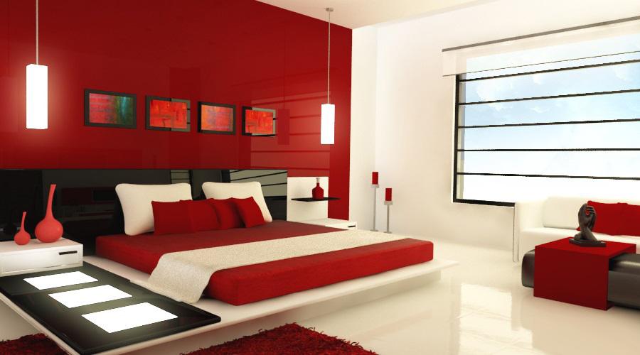 Rotes Schlafzimmer (58 Fotos): Innenarchitektur in rot-weiß ...